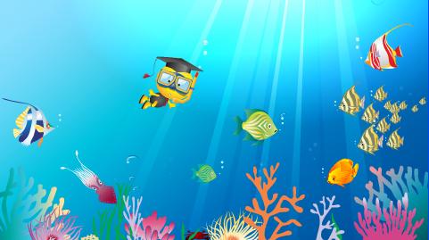 小博士屏保-海底世界