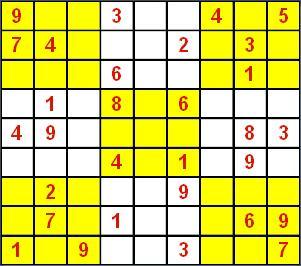 """""""每行,每列及每个3×3的九宫格,两条主对角线都要包含数字1~9""""的图片"""