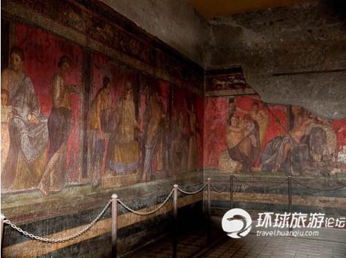 庞贝壁画_庞贝古城 一夜消失千年神秘-学科网