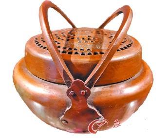 """古人的婚礼在什么时间举行_古人的""""便携式暖炉"""":状如提篮炉身雕花(图)"""