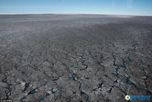 """[格陵兰岛属于哪个大洲]组图:格陵兰岛出现大片""""黑冰"""""""