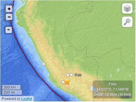 秘鲁结|秘鲁南部发生7级地震 恐引发局部破坏性海啸