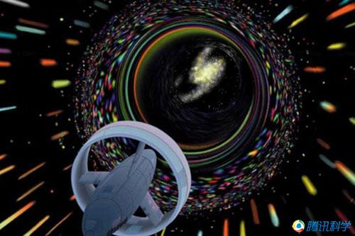 """银河系中央黑洞_银河系中央可能存在天然""""时空隧道"""""""