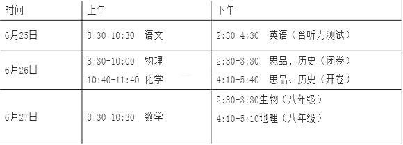【2015年福建莆田中考时间表】2015年福建莆田中考时间:6月25日-27日