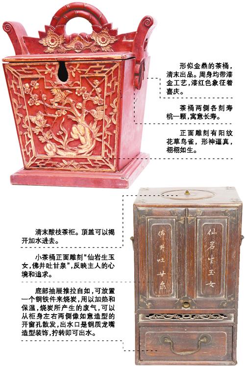 【清代茶具套装】清代茶具沿袭明代规范 茶桶塞入鹅毛、棉花保温