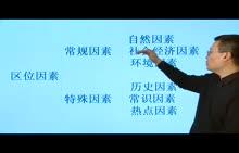 【三维设计】高考地理专题视频讲座:第三讲  区位分析的方法上