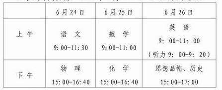 【2015桂林中考时间表】2015桂林中考时间安排