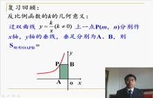 【初中数学微课视频】反比例函数k的几何意义(人教版八下第17.1 ,赣州中学:黄学财)