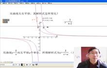 【初中数学微课视频】反比例函数图象的平移(人教版八下17.1,于都三中:蔡家禄)
