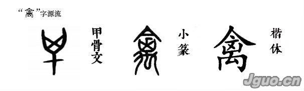"""汉字溯源 说文解字_汉字溯源:二足而羽谓""""禽"""""""