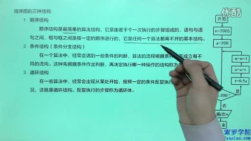 高中数学必修3《算法初步》算法与程序框图-程序图的三种结构_标清