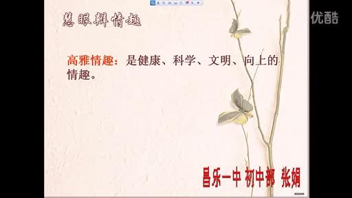 初中政治微课_追求高雅情趣 品味美好生活