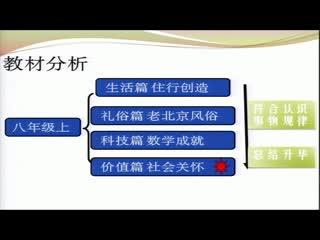 中华优秀传统文化八年级上册 传承发扬尊老敬老传统美德—说课视频