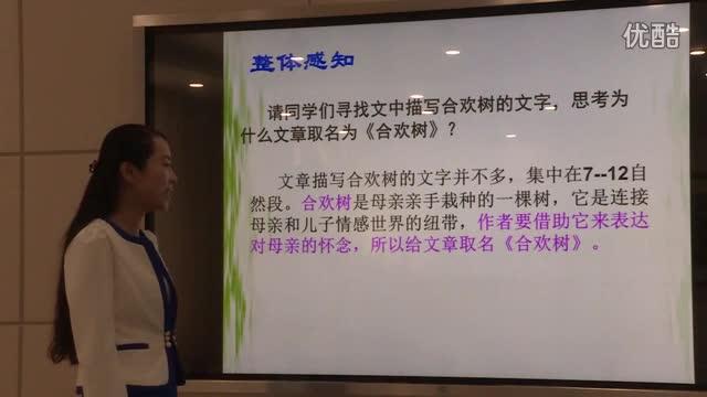 郸城一高刘娜老师微课《合欢树》_标清