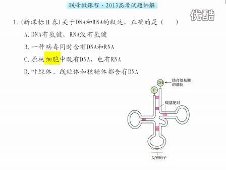 高中生物微课:2013高考试题讲解_新课标Ⅱ卷生物第一题