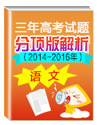 三年高考(2014-2016)语文试题分项版解析