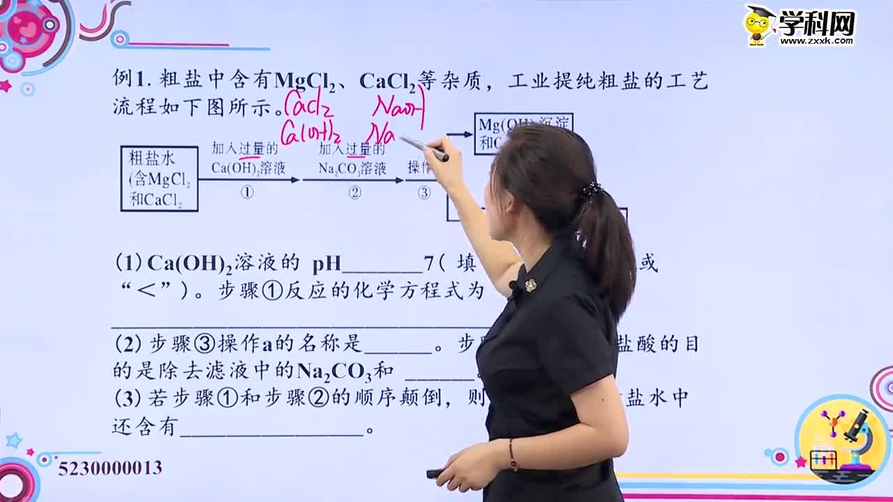初中化学:工业流程图题之海水资源的利用题-试题视频