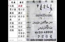七年级历史与社会第八单元中国人文环境第三课中国语言