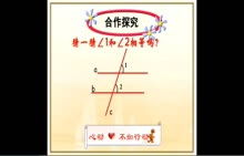 人教版 七年级数学下册 第五章 第3节:平行线的性质1-微课堂