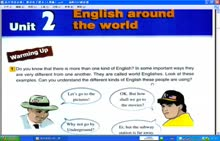 人教版 高一英语必修一 Unit 2 课文 English around the world-微课堂