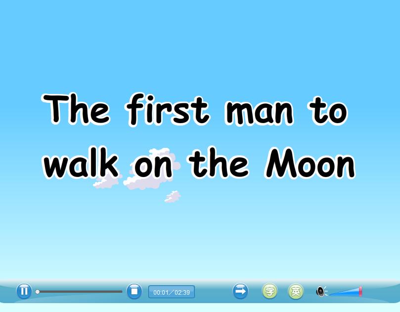 九年级英语:Unit 4 the first man to walk on the moon-视频素材