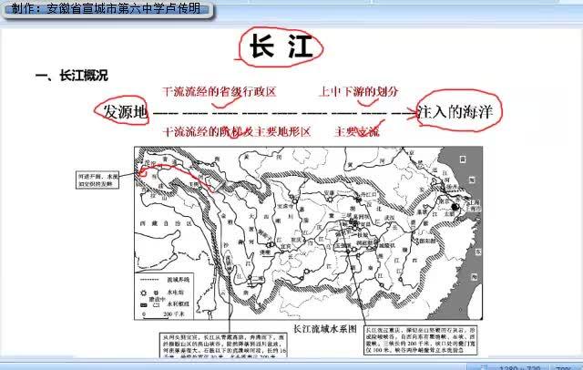 湘教版 八年级地理上册 第2章 第3节《中国的河流》(第2课时长江)