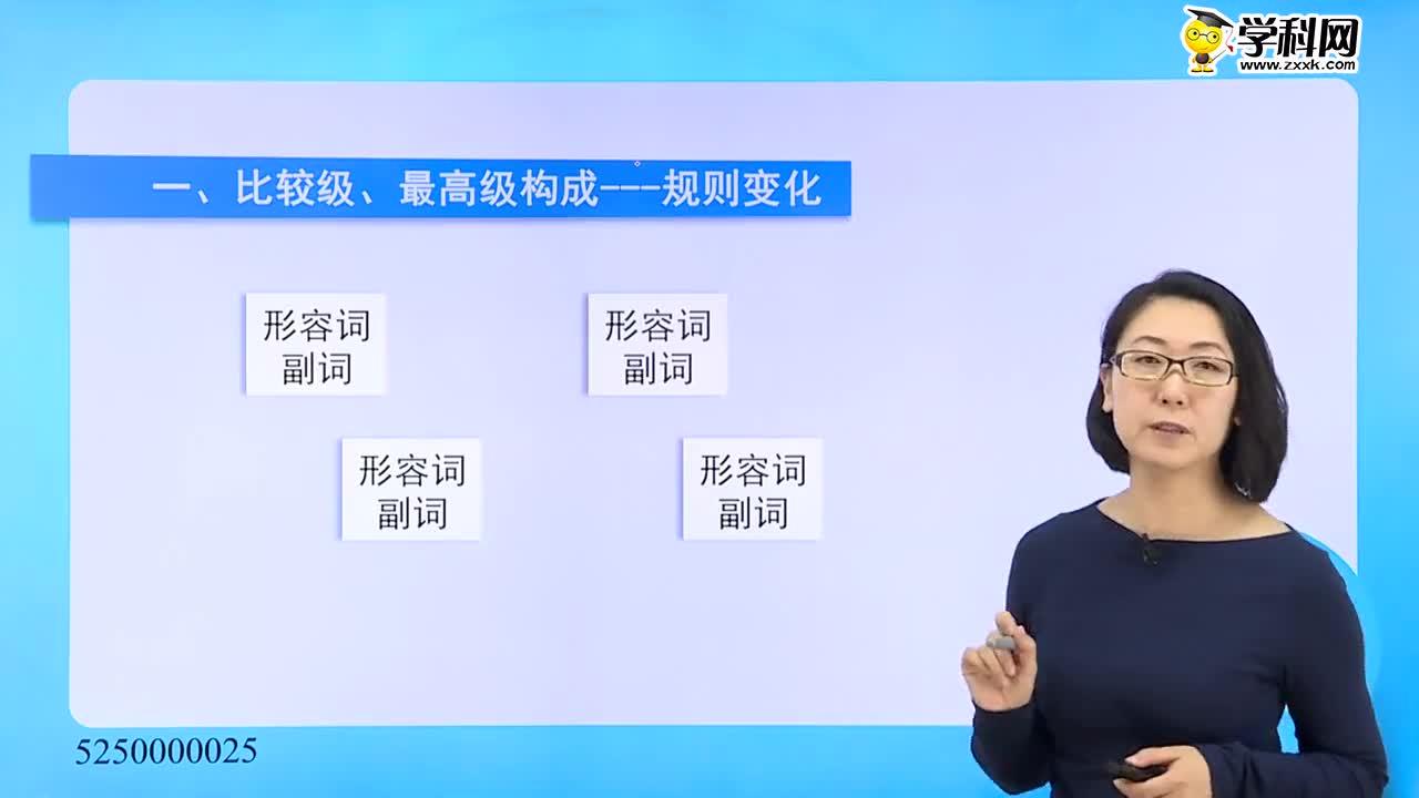 初中英语-形容词、副词:形容词、副词比较级、最高级的构成 -试题视频