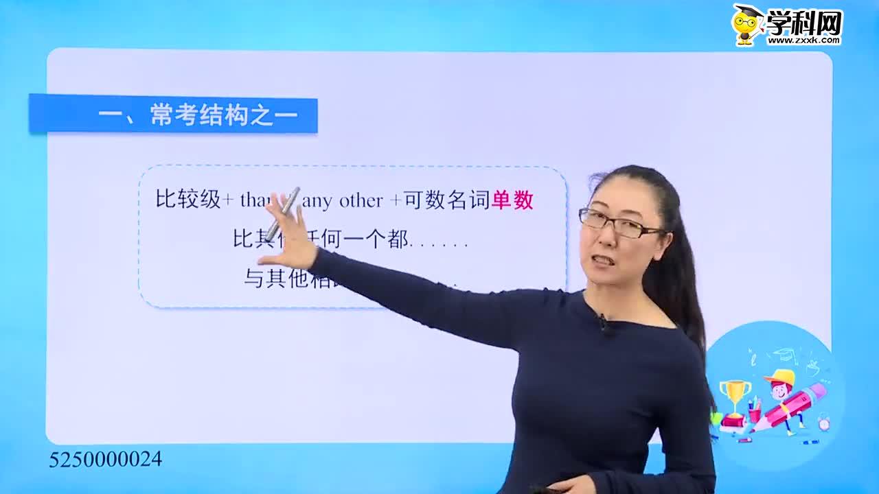 初中英语-形容词、副词:比较级表示最高级意义-试题视频