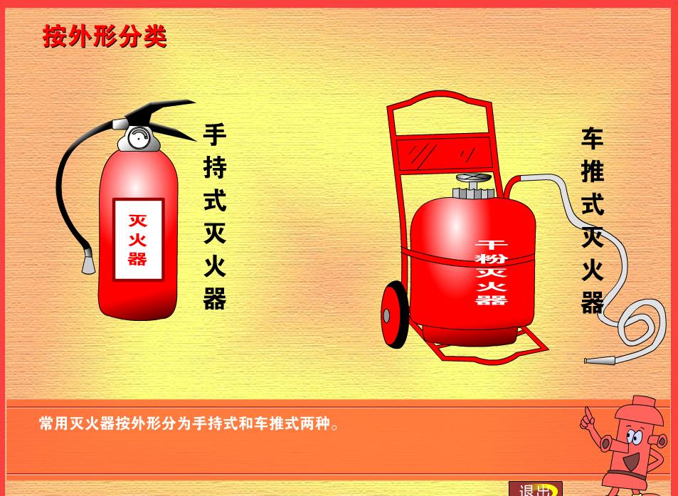 人教版 九年级化学:灭火器的使用-视频素材