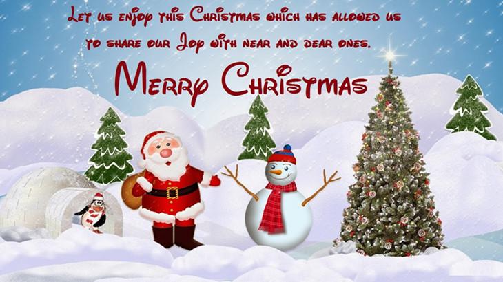 简短英文圣诞祝福语大全