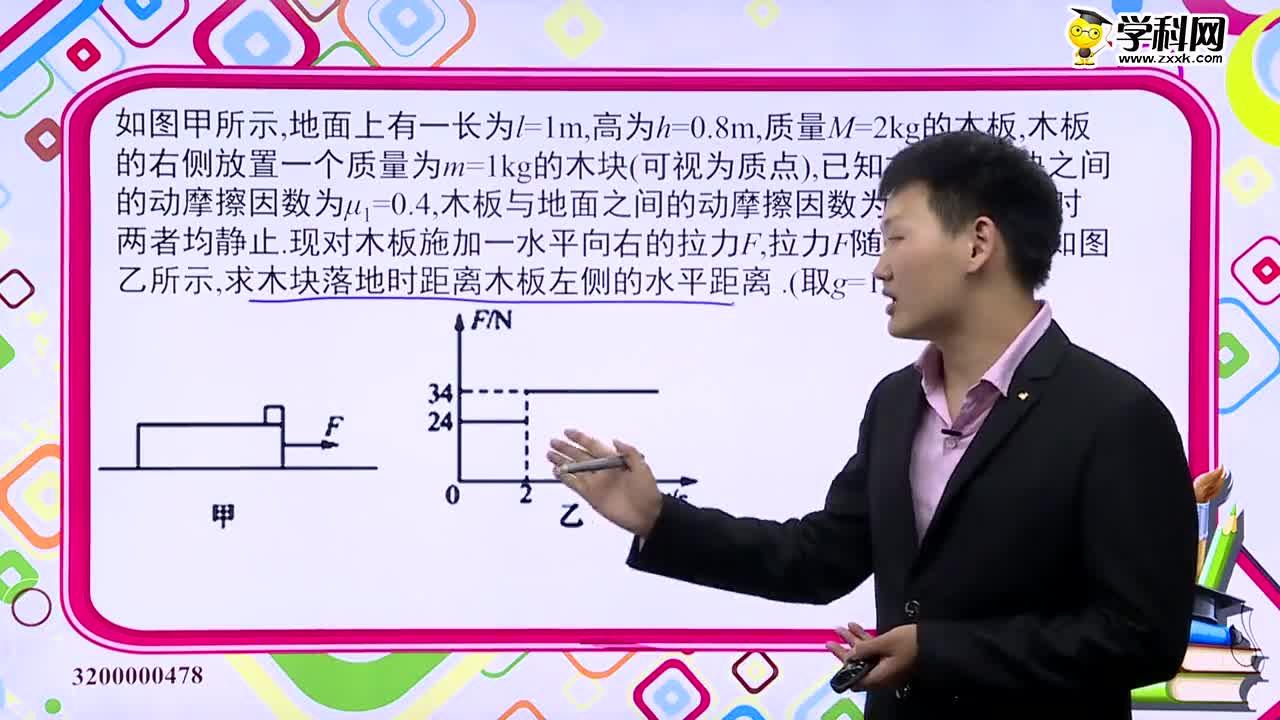 高中物理 板块模型+F-t图象-试题视频