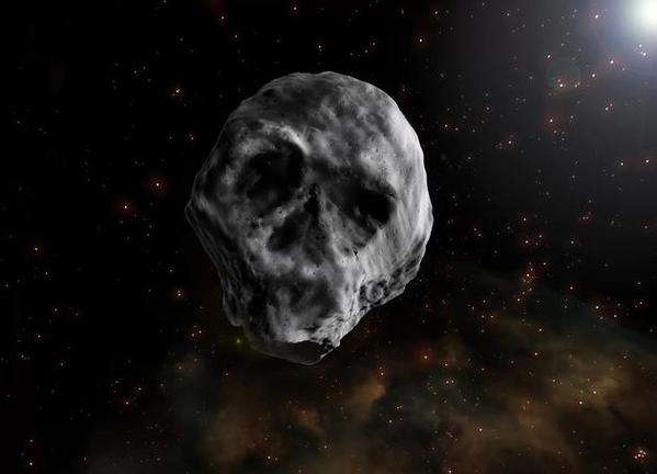 """生物与生活 """"骷髅头""""状小行星转向,正朝着地球飞来      &emsp"""