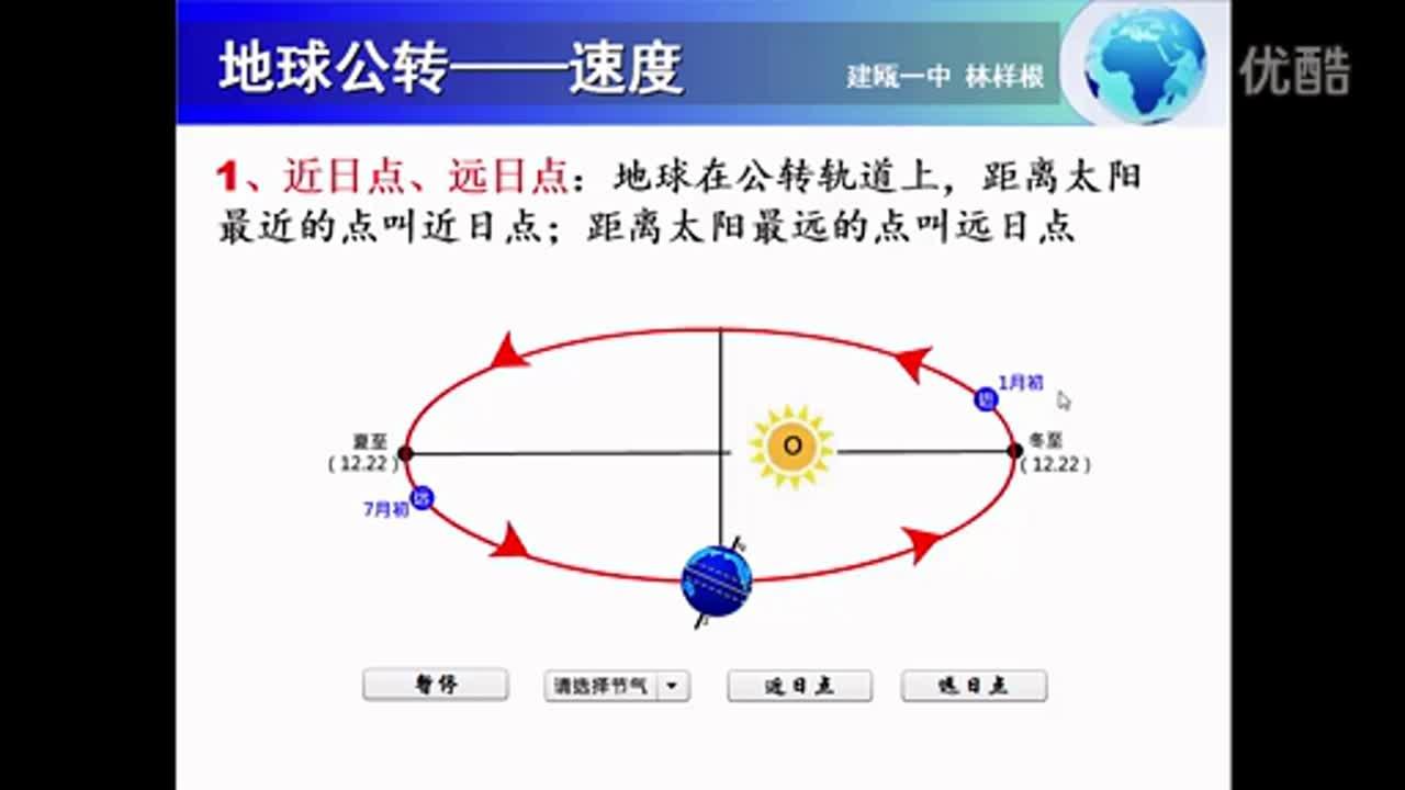 10、高中地理 微課《地球公轉的速度》