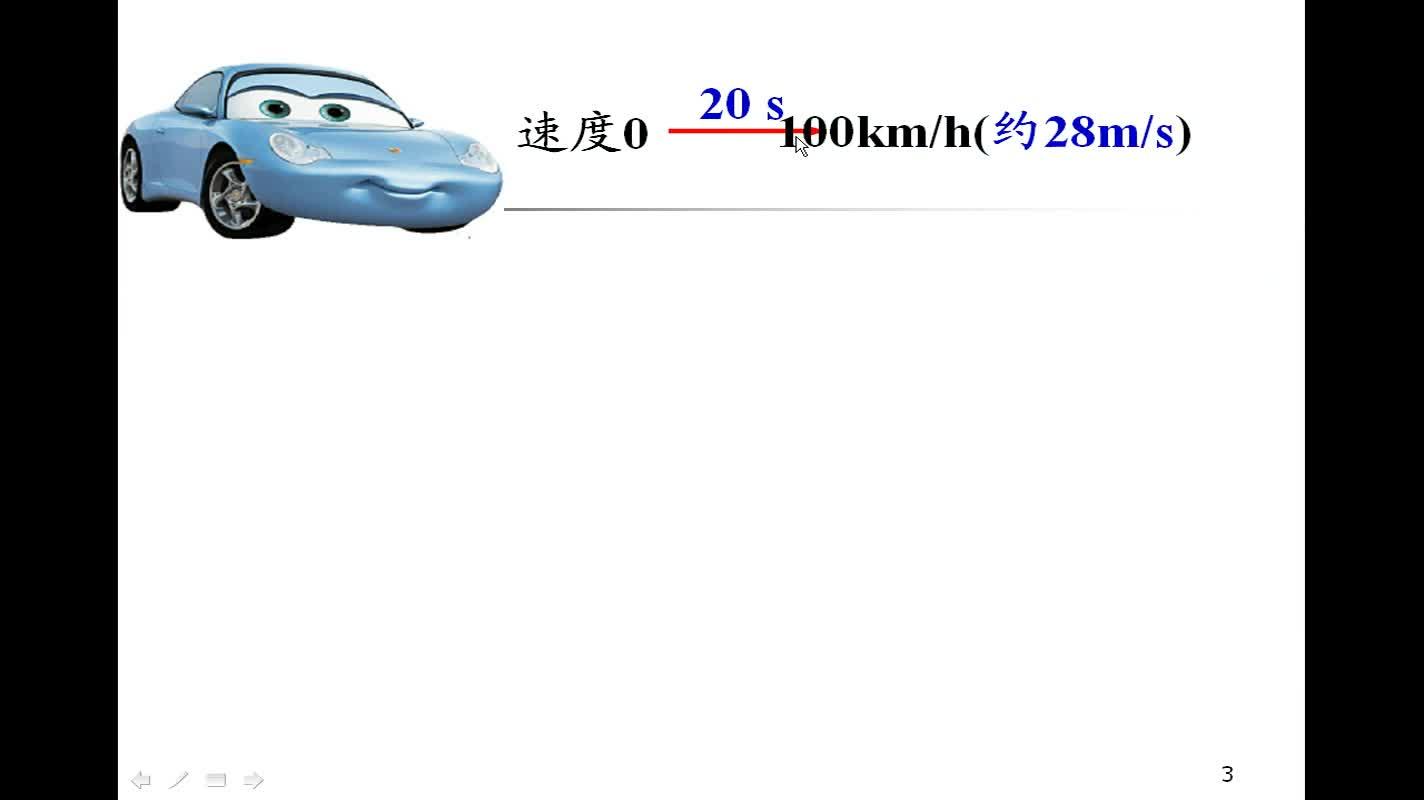 高一物理微课《速度变化快慢的描述——加速度》