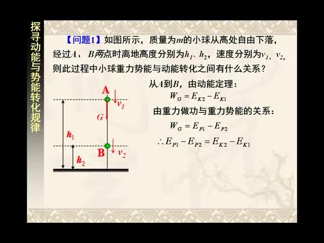高一物理微课:探究机械能守恒的条件