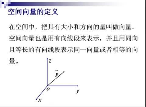 人教版 高二数学选修2-1 第三章 空间向量
