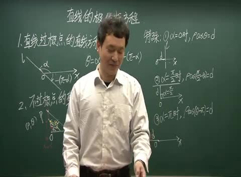 人教A版 高二数学 选修4-4 1.3.2:直线的极坐标方程02-名师示范课