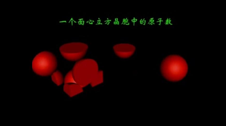 人教版高二化学选修三第三章第三节1个面心晶胞中的原子数动画演示