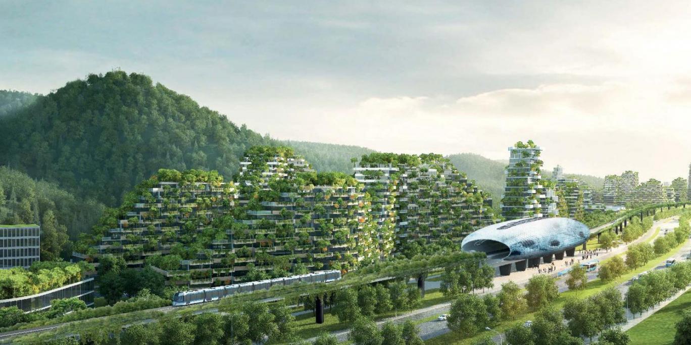 """""""森林城市""""目前已經開始在廣西省柳州市開始建設中,設計師為斯丹"""