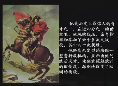 人教版 高二历史选修四 第三单元 第3课:一代雄狮拿破仑-名师示范课