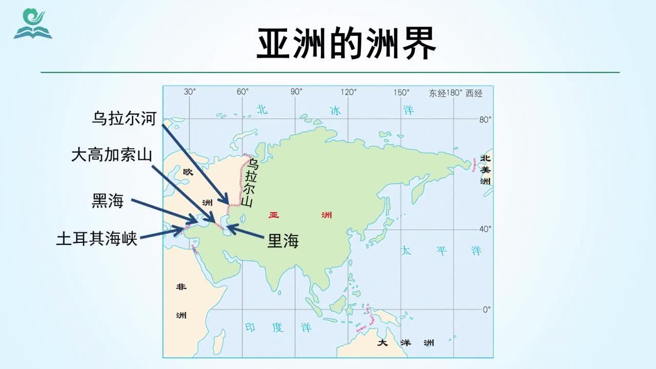 【名师微课】七年级下地理(人教版)微课视频:亚洲的位置