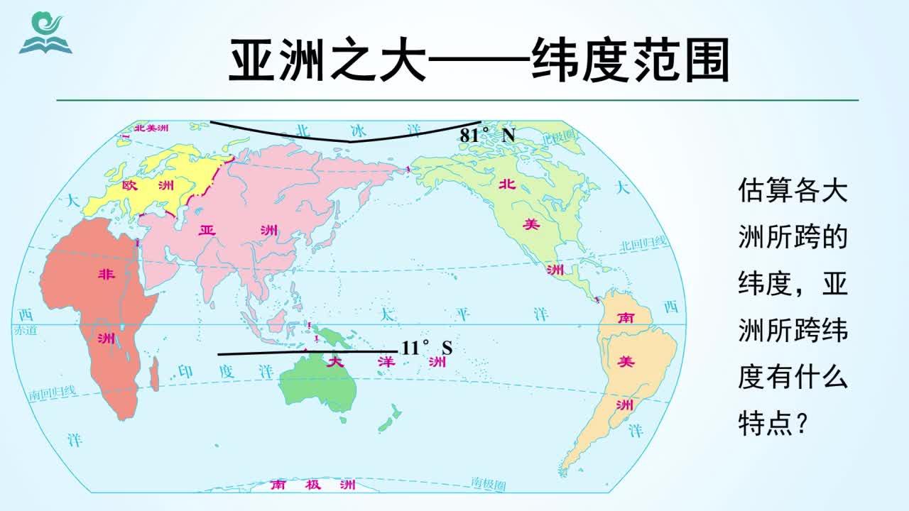 【名师微课】七年级下地理(人教版)微课视频:亚洲的范围及地区差异