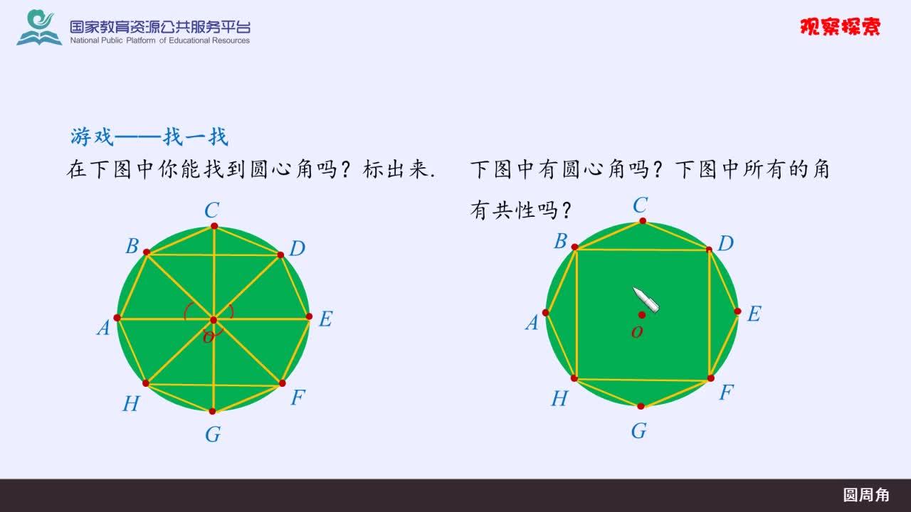 【精品微课】九年级上数学(人教版)名师微课视频:圆周角