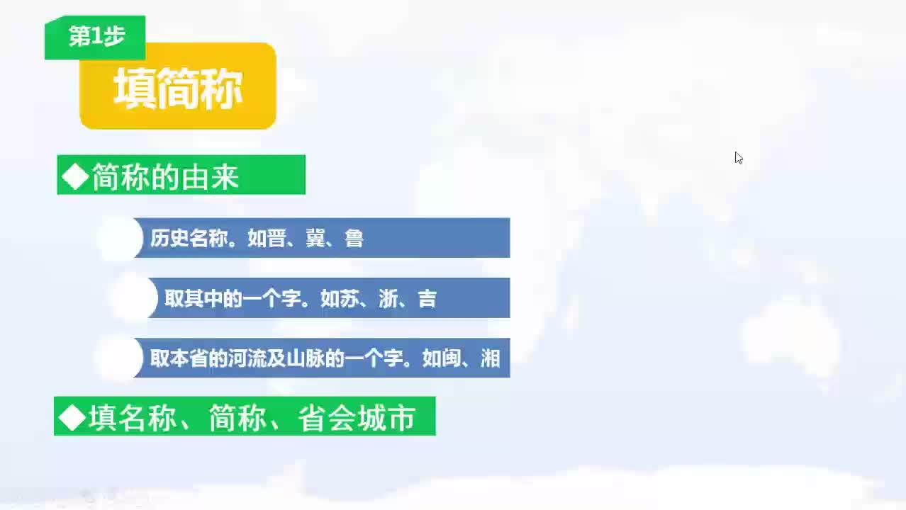 人教版 高三地理 中国空间定位方法-微课堂
