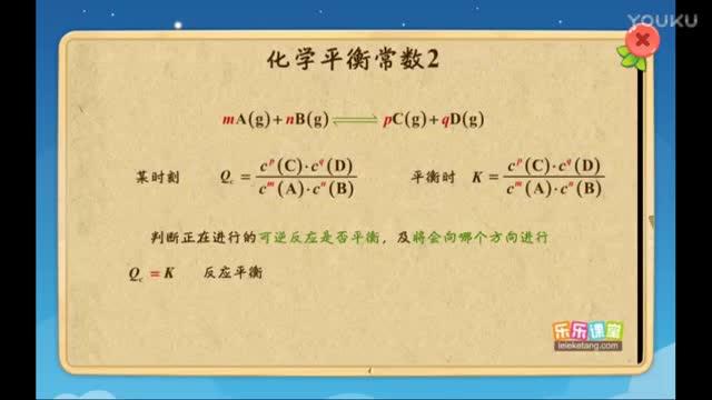 人教版 高二化学 化学平衡常数2-微课堂