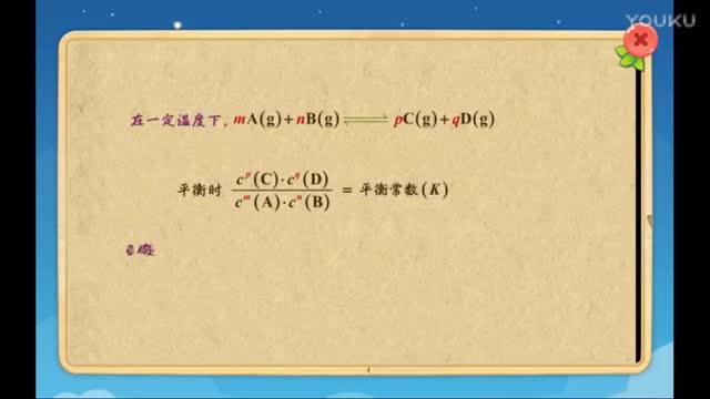 人教版 高二化学 化学平衡常数1-微课堂