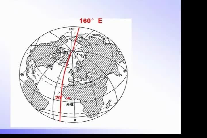 商务版地理七年级上册 东西半球的划分微课