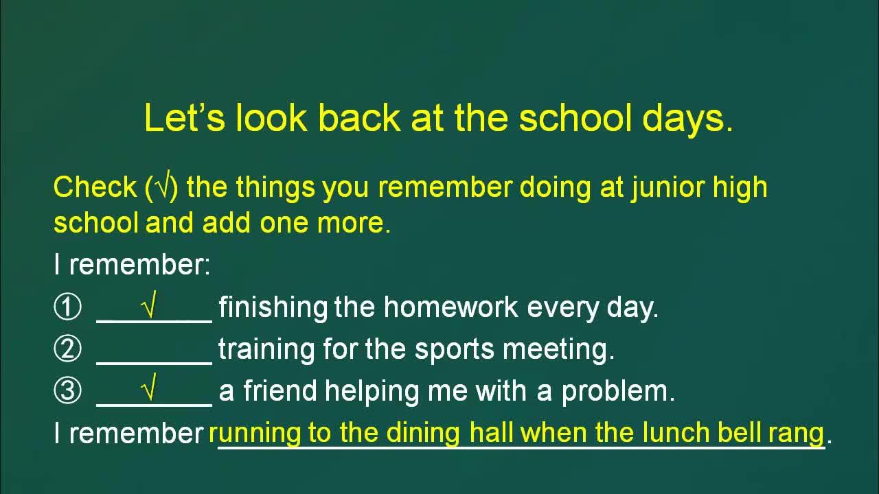 【精品微课】九年级下英语(人教版)名师微课视频:I remember meeting all of you in Grade 7.