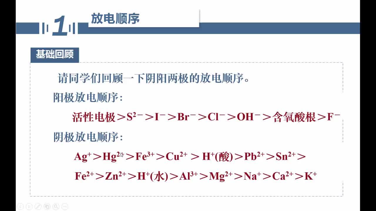 【名师微课】浙江省化学选考复习之无机化学反应疑难突破:常见溶液的电解