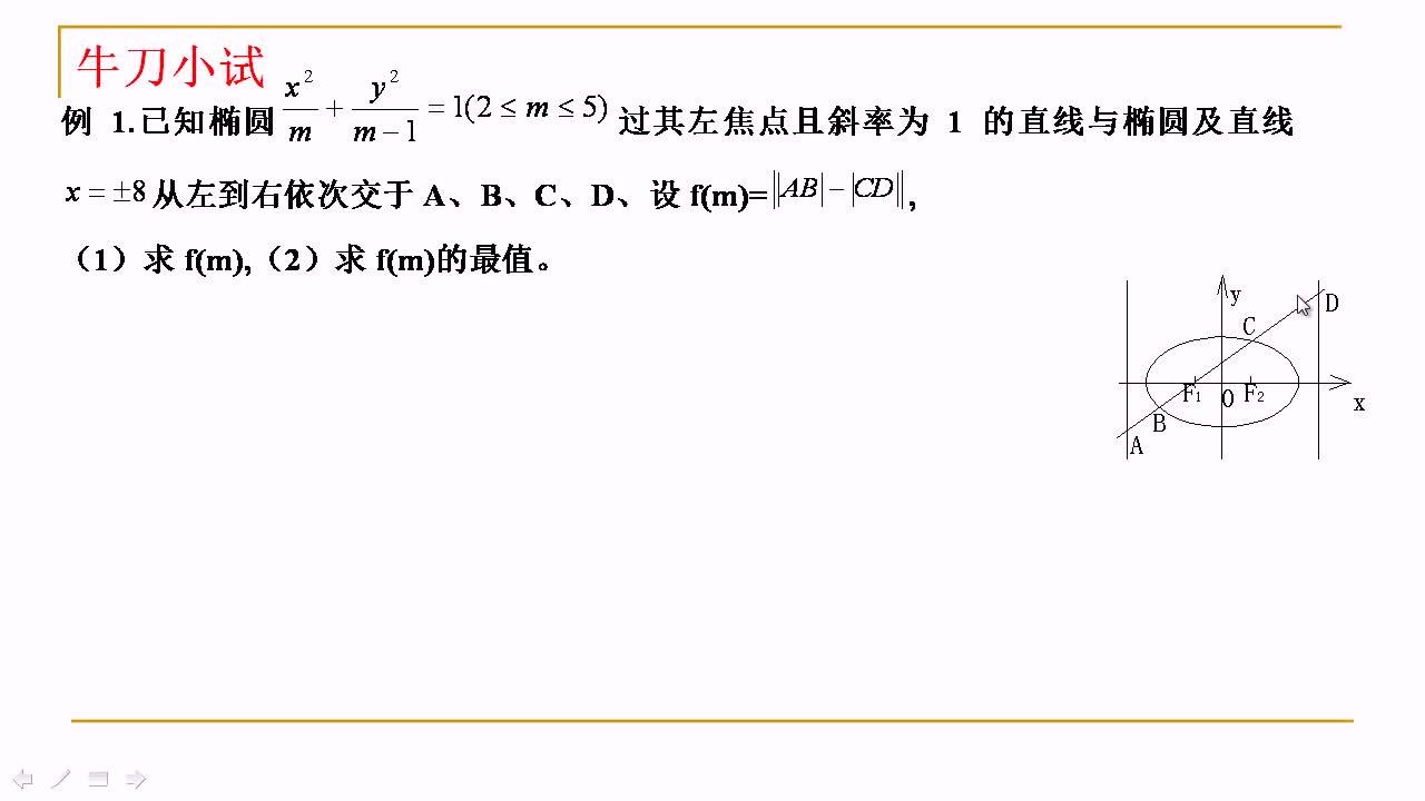 【名师微课】高三数学重难点名师点金:圆锥曲线中的问题(8)